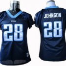 Chris Johnson #28 Navy Tennessee Titans Women's Jersey