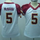 Donovan McNabb #5 White Washington Redskins Women's Jersey