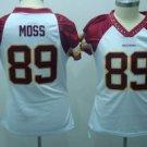 Santana Moss #89 White Washington Redskins Women's Jersey