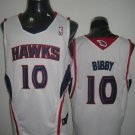 Mike Bibby #10 White Atlanta Hawks Men's Jersey