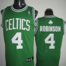 Nate Robinson #4 Green W/White Letters Boston Celtics Men's Jersey