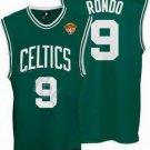 Rajon Rondo #9 Green W/White Letters Boston Celtics Men's Jersey