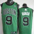 Rajon Rondo #9 Green W/Black Letters Boston Celtics Men's Jersey