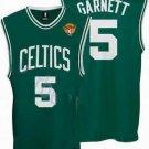 Kevin Garnett #5 Green With White Letters Boston Celtics Men's Jersey