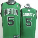 Kevin Garnett #5 Green With Black Letters Boston Celtics Men's Jersey