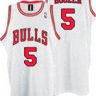 Carlos Boozer #5 White Chicago Bulls Men's Jersey