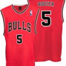 Carlos Boozer #5 Red Chicago Bulls Men's Jersey
