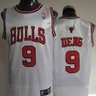 Luol Deng #9 White Chicago Bulls Men's Jersey