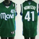 Dirk Nowitzki #41 Green Dallas Mavericks Men's Jersey