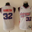 Richard Hamilton #32 White Retro Detroit Pistons Men's Jersey