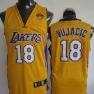 Sasha Vujacic #18 Yellow Los Angeles Lakers Men's Jersey