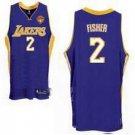 Derek Fisher #2 Purple Los Angeles Lakers Men's Jersey