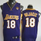 Sasha Vujacic #`8 Purple Los Angeles Lakers Men's Jersey
