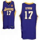 Andrew Bynum #17 Purple Los Angeles Lakers Men's Jersey