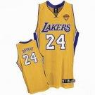 Kobe Bryant #24 Yellow Los Angeles Lakers Men's Jersey
