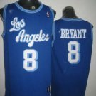 Kobe Bryant #24 Blue with White Letters Los Angeles Lakers Men's Jersey