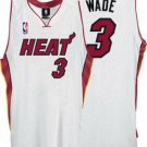 Dwayne Wade #3 White Miami Heat Men's Jersey