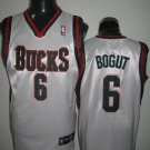 Andrew Bogut #6 White Milwaukee Bucks Men's Jersey