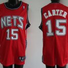 Vince Carter #15 Red New Jersey Nets Men's Jersey