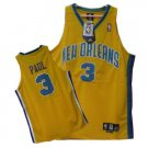 Chris Paul #3 Yellow New Orleans Hornets Men's Jersey