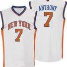 Carmelo Anthony #7 White New York Knicks Men's Jersey