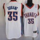 Kevin Durant #35 White Oklahoma City Thunder Men's Jersey