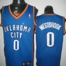 Russell Westbrook #0 Blue Oklahoma City Thunder Men's Jersey