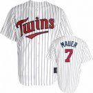 Joe Mauer #7 White Minnesota Twins Kid's Jersey