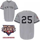 Mark Teixeira #25 Grey New York Yankees Kid's Jersey