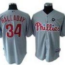 Roy Halladay #34 Grey Philadelphia Phillies Kid's Jersey
