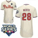 Jayson Werth #28 Cream Philadelphia Phillies Kid's Jersey