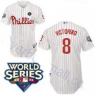 Shane Victorino #8 White Philadelphia Phillies Kid's Jersey
