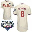 Shane Victorino #8 Cream Philadelphia Phillies Kid's Jersey