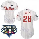 Chase Utley #26 White Philadelphia Phillies Kid's Jersey