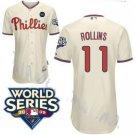 Jimmy Rollins #11 Cream Philadelphia Phillies Kid's Jersey
