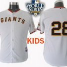 Buster Posey #28 White San Francisco Giants Kid's Jersey