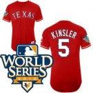 Ian Kinsler #5 Red Texas Rangers Kid's Jersey