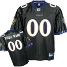 Custom Baltimore Ravens Black Jersey