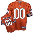 Custom Chicago Bears Orange Jersey