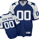 Custom Dallas Cowboys Retro Blue Jersey