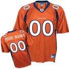 Custom Denver Broncos Orange Jersey