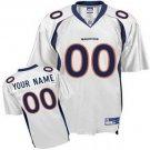 Custom Denver Broncos White Jersey
