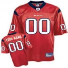 Custom Houston Texans Red Jersey