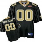Custom New Orleans Saints Black Jersey