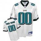 Custom Philadelphia Eagles White Jersey