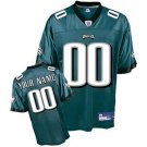 Custom Philadelphia Eagles Green Jersey