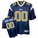 Custom St. Louis Rams Blue Jersey