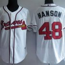 Tommy Hanson #48 White Atlanta Braves Men's Jersey