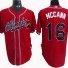 Brian McCann #16 Red Atlanta Braves Men's Jersey