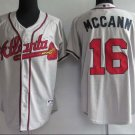 Brian McCann #16 Grey Atlanta Braves Men's Jersey